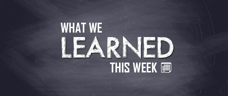 What Have We Learned About Special >> What We Learned This Week 2018 Thanksgiving Soapbox Special