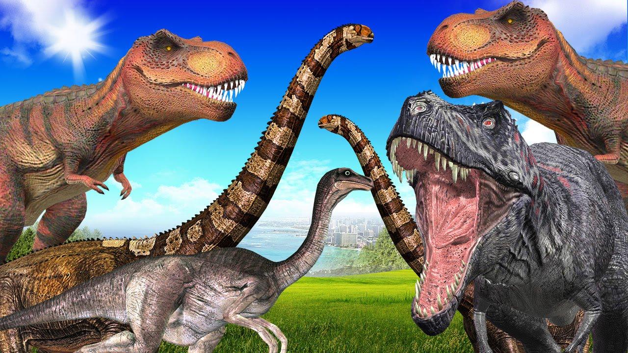Cretaceous Dinosaurs Tyrannosaurus Rex Triceratops More
