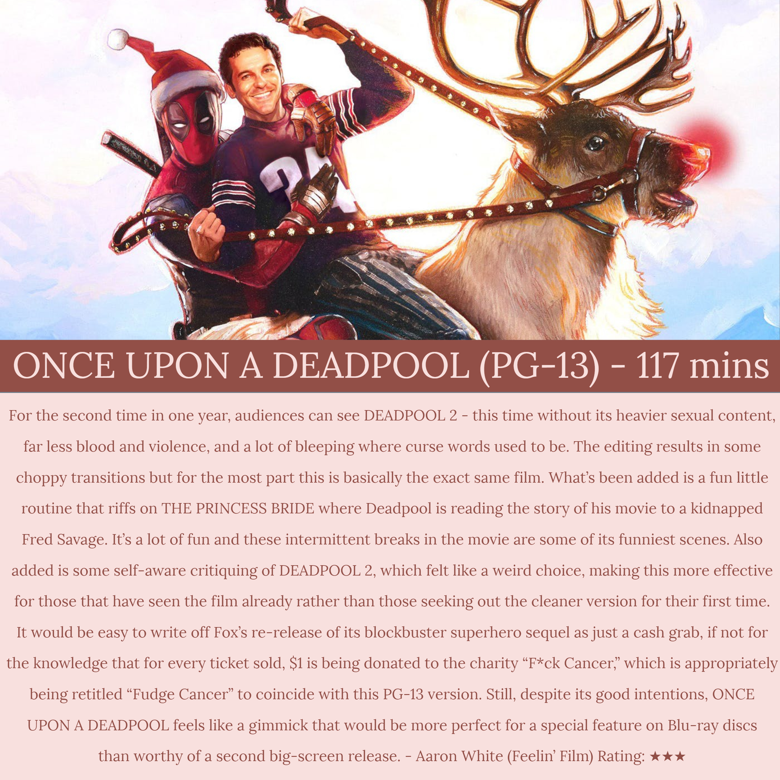 movie review once upon a deadpool feelin film